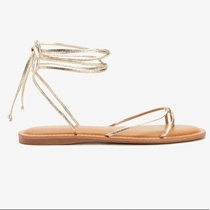 Lace-Up Strappy Thong Sandals